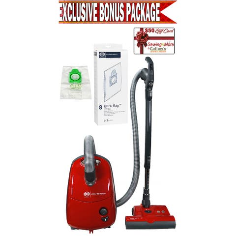 Sebo 91642AM Airbelt E3 Turbo Red Canister Vacuum w/ Exclusive Bonus Package!