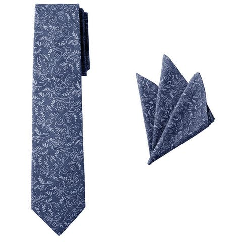 Jacob Alexander Matching Men's Floral Neck Tie and Hanky