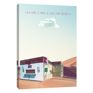 "PTM Images 9-109106  PTM Canvas Collection 10"" x 8"" - ""Tiny Home Sentiments 4"" Giclee Desert Soda Shack Art Print on Canvas"