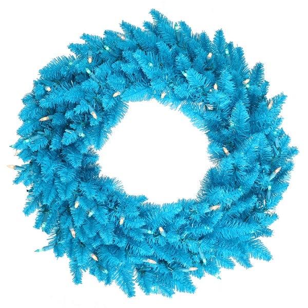 "36"" Sky Blue Wreath DuraL LED 100BL 320T"