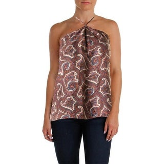 Theory Womens Printed Halter Casual Top - S