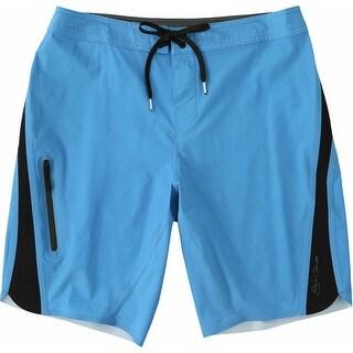 Jack O'Neill NEWBlue Mens Size 32 Colorblock Drawstring Trunks Swimwear