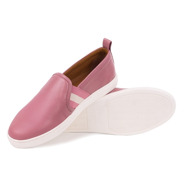 Shop Bally Womens Henriks Pink Leather
