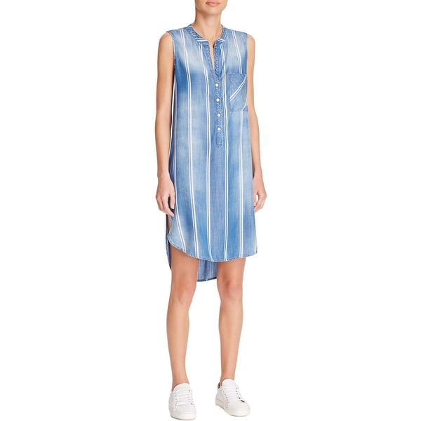 907257d0b22 Shop Bella Dahl Womens Casual Dress Tencel Chambray - Free Shipping On  Orders Over  45 - Overstock - 16952429