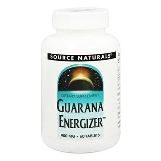 SOURCE NATURALS - Guarana Energizer 900 mg 60 Tablet 60 TABLET
