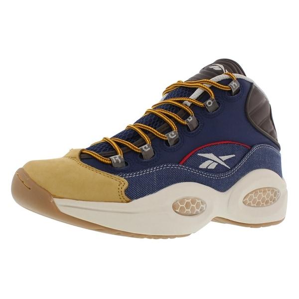 5b39b674636 Shop Reebok Question Mid Dress Basketball Men s Shoes - On Sale ...