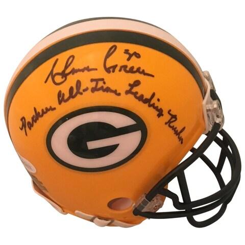 Ahman Green Autographed Green Bay Packers Signed Football Mini Helmet JSA COA