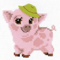 """Piglet Counted Cross Stitch Kit-6""""X6"""" 10 Count"""