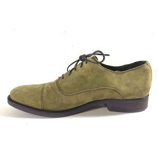Donald J Pliner Womens EMBE-MAMA Suede Closed Toe Loafers - Khaki - 8.5