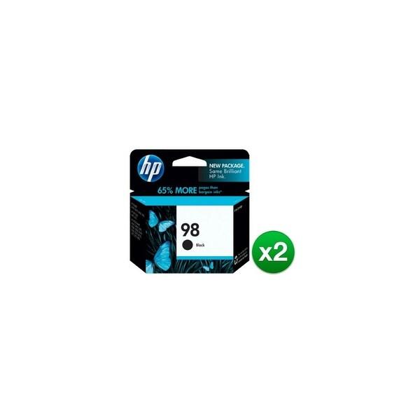 HP 98 Black Original Ink Cartridge (C9364WN) (2-Pack)
