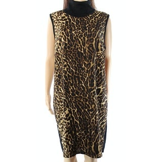 Lauren By Ralph Lauren NEW Black Womens Size Large L Sweater Dress