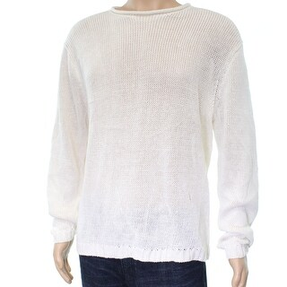Polo Ralph Lauren NEW White Mens Size Large L Crewneck Sweater