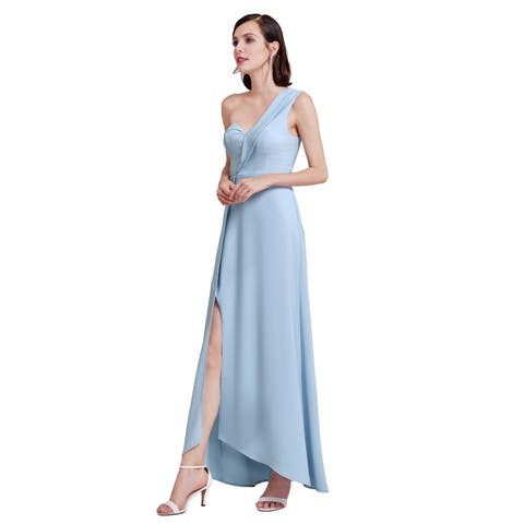 b8eff875003f Ever-Pretty Women's Elegant One-Shoulder SweetheartLong Blue Formal Dress  07179