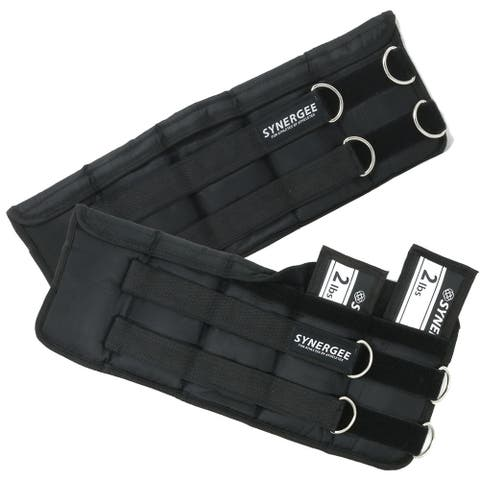 Synergee Fixed & Adjustable Ankle/Wrist Weights (Set of 2). Available in 1lb, 2lb, 5lb, 10lb & 20lbs. One Size Fits