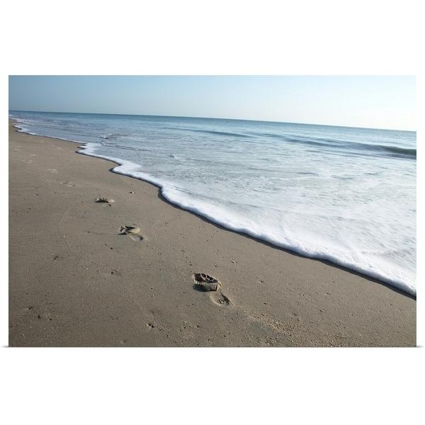 """Footprints on beach"" Poster Print"