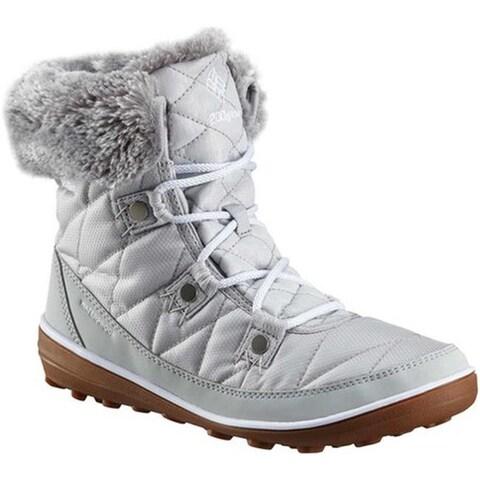 Columbia Women's Heavenly Shorty Camo Omni-Heat Boot Grey Ice/White