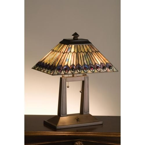 Meyda tiffany 26300 stained glass tiffany table lamp from the meyda tiffany 26300 stained glass tiffany table lamp from the jeweled peacock collection free shipping today overstock 19831563 aloadofball Choice Image