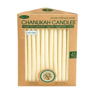 """Club Pack of 45 Ivory Eco-Friendly Pure Natural Wax Chanukah Premium Candles 5"""""""