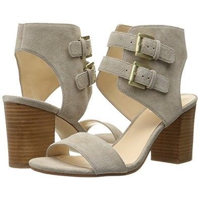 65c3077a05b9 Nine West Women s Galiceno Suede Heeled Sandal - Free Shipping On Orders  Over  45 - Overstock.com - 21080900
