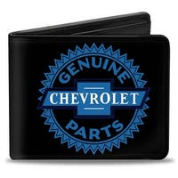 1927 Genuine Chevrolet Parts Seal Black Blue Bi Fold Wallet - One Size Fits most