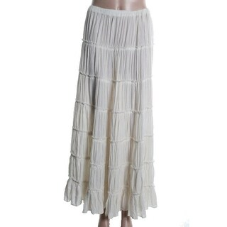 Denim & Supply Ralph Lauren Womens Gauze Full-Length Peasant, Boho Skirt - M