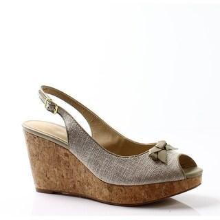 Trotters NEW Beige Women's Shoes Size 10.5N Allie Wedge Sandal