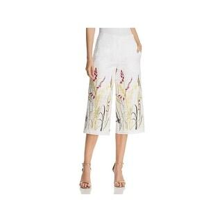 T Tahari Womens Kiran Capri Pants Cropped Floral