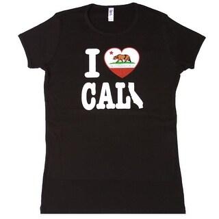 I LOVE California Women's Black Short Sleeve Shirt
