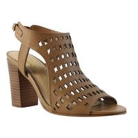 Sbicca Womens Brown Open Toe Heels Size 7