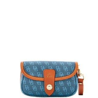 Dooney & Bourke Mini Signature Flap Wristlet (Introduced by Dooney & Bourke at $58 in Apr 2016) - Teal