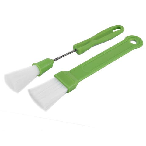 Plastic Handle Outdoor Indoor BBQ Grill Brush Cleaner 2 in 1