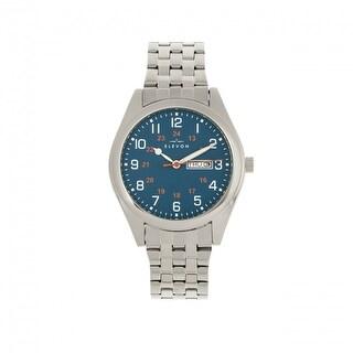 Elevon Gann Bracelet Watch w/Day/Date - Silver/Teal
