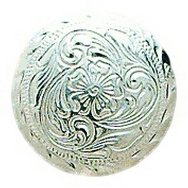 "M&F Western Concho Engraved Round Floral 1 1/4"" Silver - 1 1/4"""