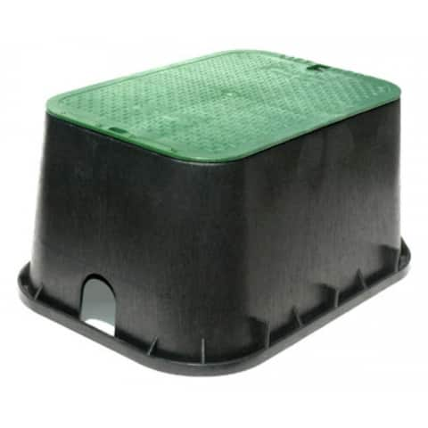 "NDS 117BC Jumbo Valve Box with Overlapping Cover, 12"" x 20"", Black/Green"