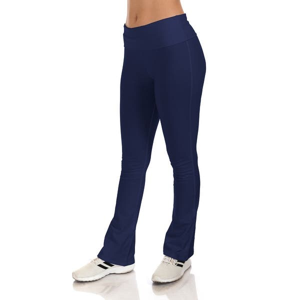 Simpy Ravishing Cotton Fold Over Waist Yoga Boot Cut Pants Size Xs 5x Overstock 13751682