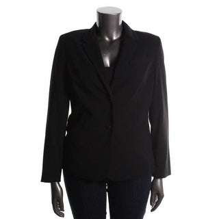 Calvin Klein Womens Lined Long sleeves Two-Button Blazer - 10