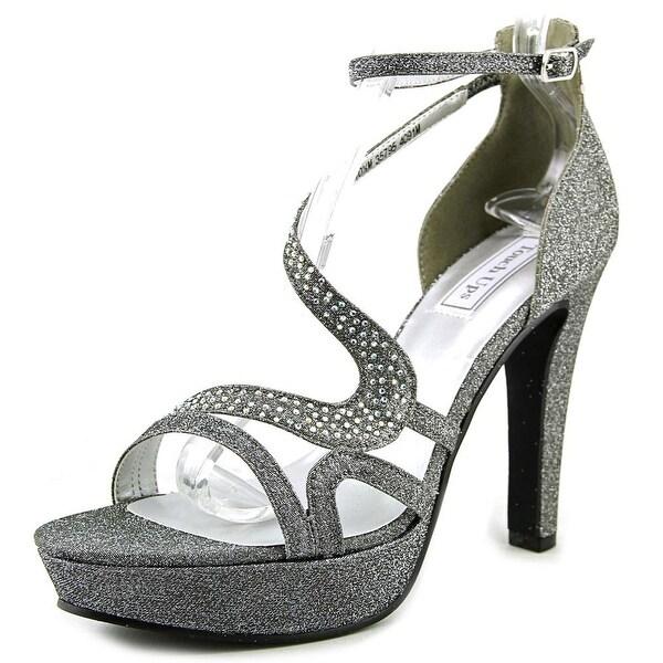 Touch Ups Breeze Women Open Toe Synthetic Gray Platform Sandal