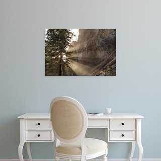 Easy Art Prints Chuck Haney's 'Mist From Holland Falls' Premium Canvas Art