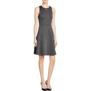 Theory Womens Trekana Cocktail Dress Compass Knit Sleeveless