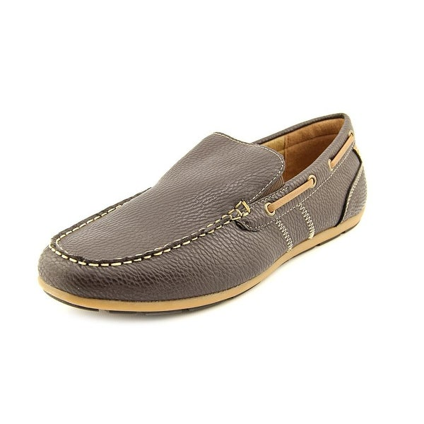 14c78cb38eb9 Shop GBX Ludlam Men Round Toe Leather Brown Loafer - Free Shipping ...