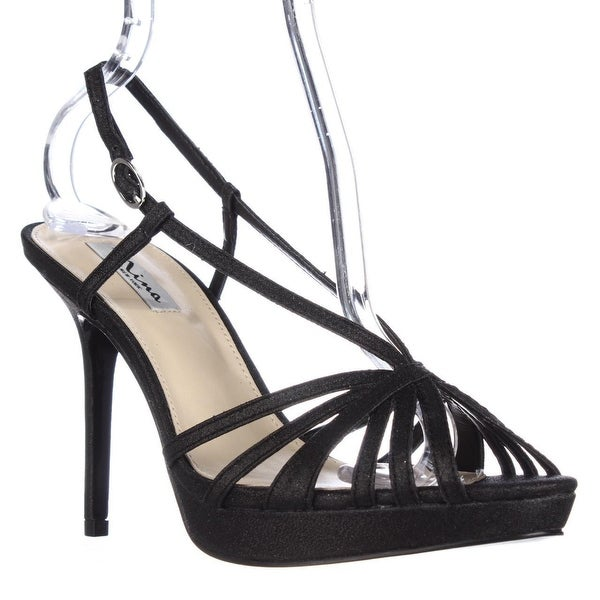 Nina Fenix Strappy Platform Dress Sandals, Black