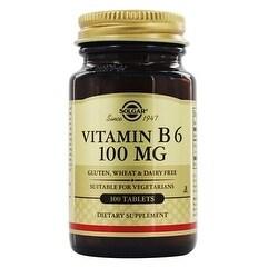 Solgar Vitamin B6 100 mg (100 Tablets)