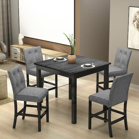 Gray 5-Piece Counter Height Dining Set