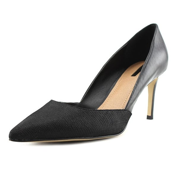 Tahari Phillipa Women Pointed Toe Suede Black Heels