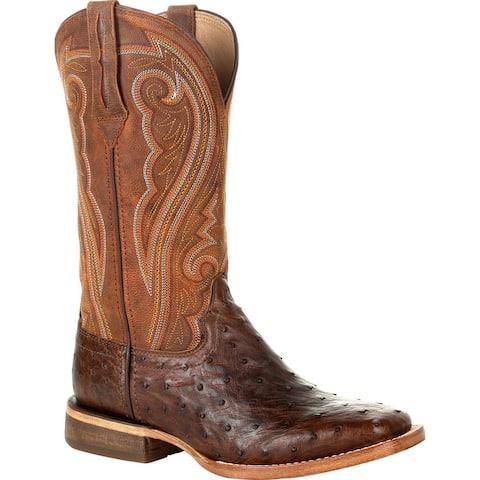 Durango® Premium Exotics Women's Full-Quill Ostrich Antiqued Saddle Western Boot, #DRD0389