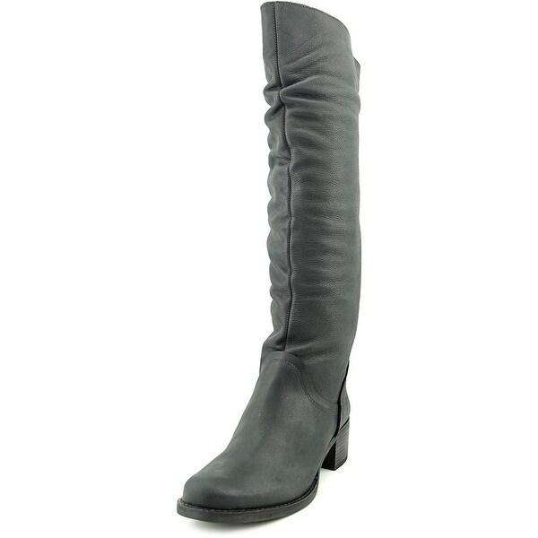 Matisse Lonestar Women Round Toe Leather Black Knee High Boot