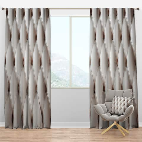 Designart 'Diamond Shaped Leather Couch' Modern Blackout Curtain Panel