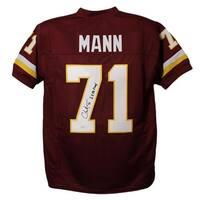 Charles Mann Autographed Washington Redskins Red XL Jersey 2x SB Champ JSA