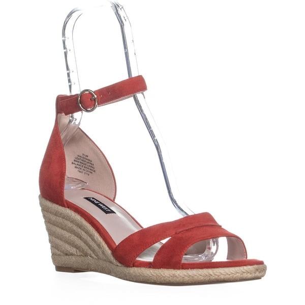 7c5d5ae0c45 Shop Nine West Jeranna Wedge Heel Espadrilles Sandals, Red - Free ...