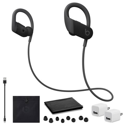Beats by Dr. Dre Powerbeats Headphones (Black) with USB Adapter Cubes
